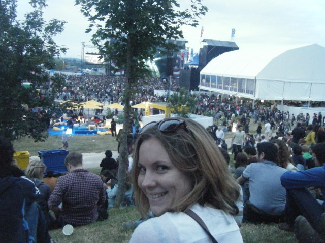 At the BBK festival in Bilbao, a day or two before I got sick